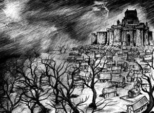 Ein Malmsturm über der Waismark?gezeichnet von Björn Lensig, mit freundlicher Genehmigung