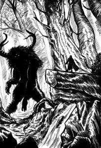 Wesenheit des Waldesgezeichnet von Björn Lensig, mit freundlicher Genehmigung